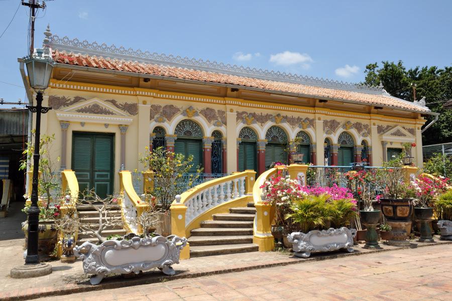 Tour a can tho nel vietnam del sud e foto di un mercato in for Casa colonica vivente del sud
