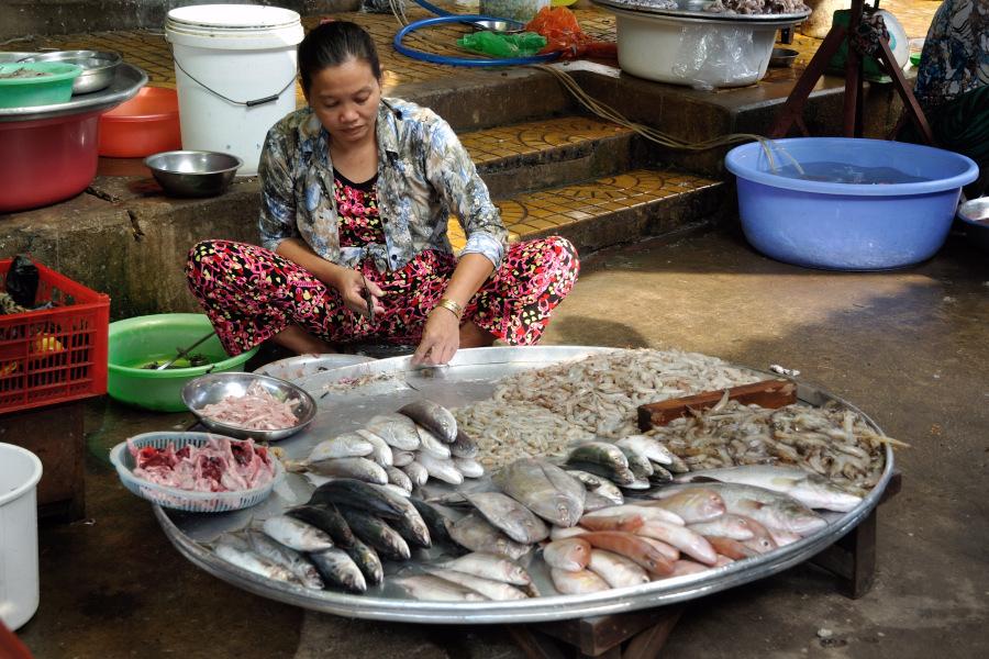 Tour a can tho nel vietnam del sud e foto di un mercato in for Bud s fish market