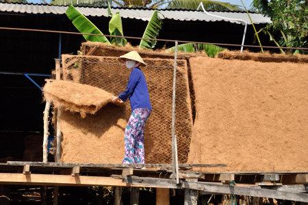 Crociera sul fiume ben tre nel vietnam meridionale - Tappeti in fibra di cocco ...